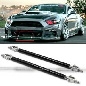 Fit Celica 8 Bumper Lip Protector Splitter Support Strut Rod Black