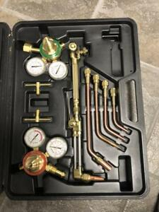 Gas Welding Cutting Kit Acetylene Oxygen Torch Set Regulator