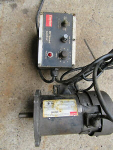 Used Dayton 4z248d Permanent Magnet Dc Motor W 2z846d Dc Speed Control 90v 4 2a
