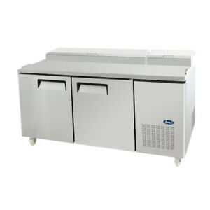 Atosa Mpf8202 Pizza Prep Table Refrigerator Series