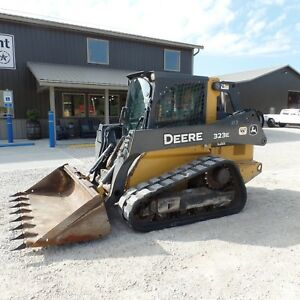 2014 John Deere 323e Tracked Skidsteer Loaded Cab A c Nice Shape Video