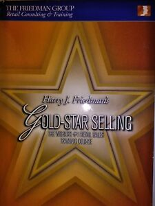 Gold Star Selling Worlds 1 Retail Sales Traning Course 4 Disc Set No Books