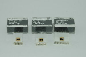 Lot Of Three 3 Ap Integrated Circuit Ic Test Clips 24 28 40 Pins Nice
