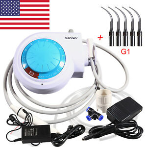 Dental Ultrasonic Piezo Scaler E2 Fit Ems woodpecker With 5 Scaler Tips G1