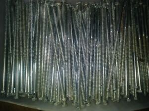 Lot Of 50 Hex Head 3 8 X 10 Lag Bolts Zinc Plate Log Cabin Wood Screws