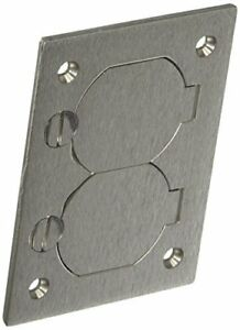 Hubbell Wiring Systems Sa3825 Aluminum Round Floor Box Rectangle Duplex Flap