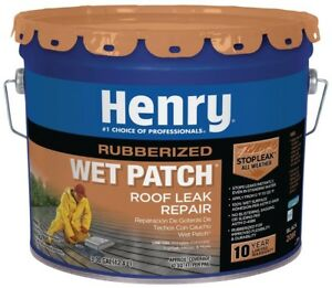Henry Wet Patch Roof Cement Roofing Leak Repair Sealant 3 30 Gallon Rubber Seal