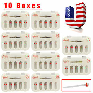 Usa 10 Packs Dental Fiber Post Resin Post W Drill Screw Thread Quartz 10pc pack