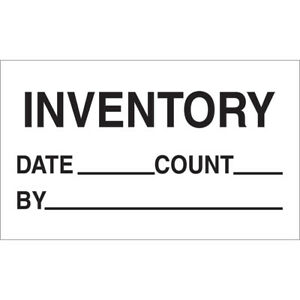 Tape Logic Labels inventory Date Count By 3 X 5 Black white 500 roll