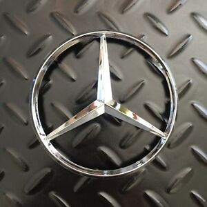 New Mercedes Benz Mb Trunk Chrome Star Emblem Badge Logo 3 Pins 4 1 2 115mm