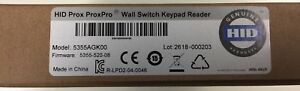 Hid Prox Proxpro Wall Switch Keypad Reader Model 5355agk00 New