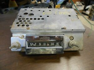 1961 1962 Chevy Impala Caprice Am Radio