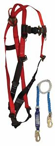 Falltech 70066082d Tradesman Harness With Clearpack Shock Absorbing Lanyard