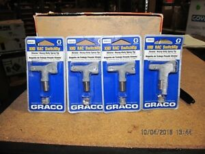 Lot Of 4 Graco Xhd Misc Model Rac Spray Gun Tips new Unused
