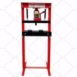 Hydraulic Shop Press Floor Press 12 Ton H Frame Red Stand Lift