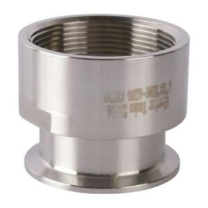 Tri Clamp clover To Fnpt Adapter 2 Inch X 2 Sanitary Ss304
