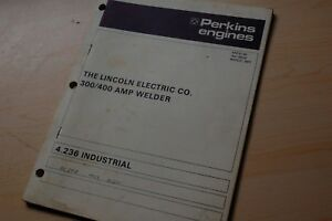 Lincoln Welder Perkins 4 236 Diesel Industrial Engine Parts Manual Book Catalog