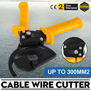 Aluminum Cut Up To 300mm2 Copper Ratchet Cable Cutter Wire Cutting Hand Tool