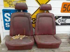 1969 1070 Ford Mustang Fastback High Back Bucket Seats