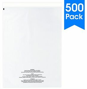 500 Count 12 X 18 Self Seal 1 5 Mil Clear Plastic Poly Bags With Suffocatio