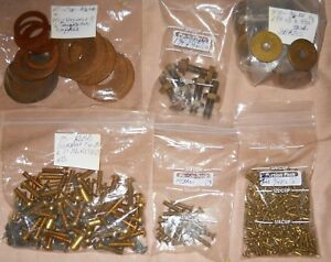Lot Of Brass Bolts Washers Nuts