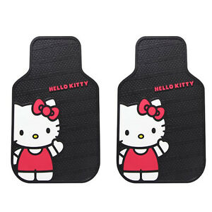 2 Pc Hello Kitty Core Rubber Front Floors Mats Heavy Duty Universal