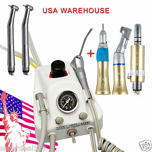 Usa Portable Dental Turbine Unit Sn4 High low Speed Handpiece Fit Nsk 4h Gas