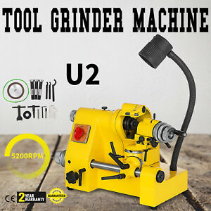 U2 Universal Tool Cutter Grinder Machine Tool Cutting 3 Collets Tool Grinding