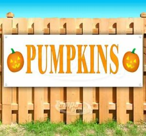 Pumpkins Advertising Vinyl Banner Flag Sign Many Sizes Available Halloween