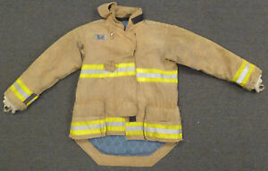 40x33 Firefighter Jacket Coat Bunker Turn Out Gear Yellow Morning Pride J639