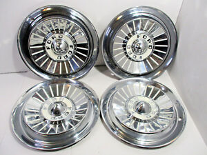 1957 57 Ford Galaxy Fairlane Original 14 Hubcaps Wheelcovers Set Of 4