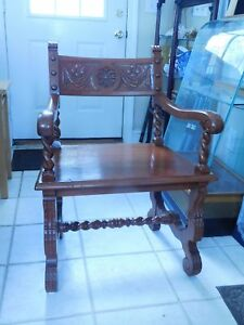 Antique Red Oak Arm Chair 1900 1950 S Solid As A Rock