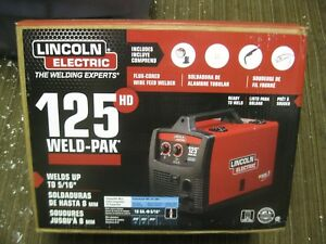 Lincoln Electric Welder 125hd Weld Pak New Free Shipping