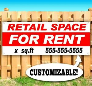 Retail Space For Rent Customize Sq Footage Advertising Vinyl Banner Flag Sign