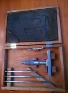 Mitutoyo 129 131 Depth Micrometer 0 4 With Case
