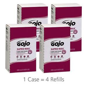 Gojo 728204 Supro Max Cherry Lotion Hand Cleaner 2000 Ml Refill case Of 4