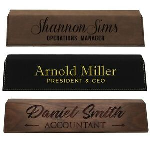 Desk Name Plate Plaque Personalized Custom Engraved Nameplate Office Accessories