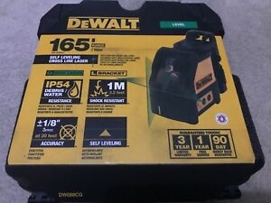 New Dewalt Dw088cg Self Levelling Green Cross Line Laser New In Case New In Box