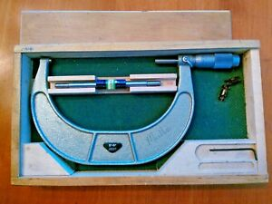 Enco 600 0026 Outside Micrometer 5 6 0001 With Case And Standard