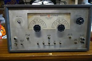 Vintage Ge General Electric Tube Sweep Generator Model St 4a Powers Up