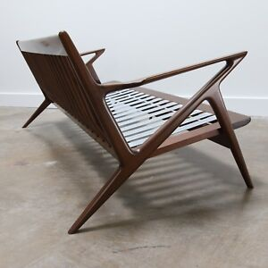 Mid Century Modern Authentic Danish Z Sofa By Poul Jensen For Selig Frame Only