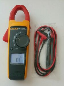 Fluke 373 True Rms Ac Current Amp Clamp Meter Multimeter New Test Lead Probes