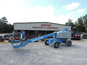 2008 Genie S40 Boom Lift 40 Reach 4x4 Very Good Condition