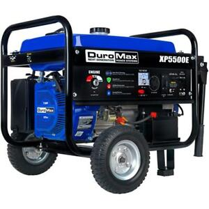 Duromax Xp5500e 5 500 watt 7 5 Hp Electric Start Gas Powered Generator