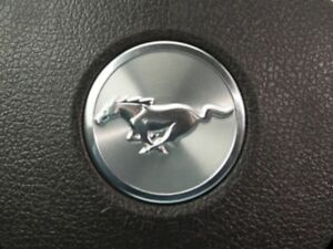 05 14 Ford Mustang Steering Wheel Horn Cover Metal Aluminum Emblem Badge New