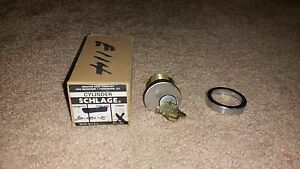 Schlage 30 001 e P507 544 Mortise Cylinder And Key Brushed Stainless New