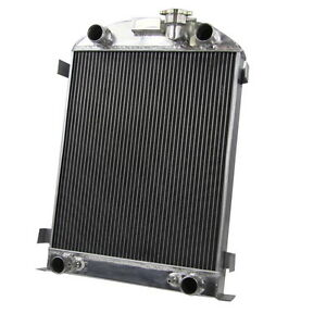 4 Row Aluminum Radiator For 1932 Ford Flat Head V8 Engine 1930 1931 Ford Model A