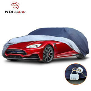 Yitamotor Waterproof Car Cover All Weather Protection For Sedan Up To 215 L Blue