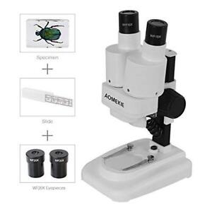 Aomekie Microscopes For Kids Students School Science Portable Stereo Compound 2x