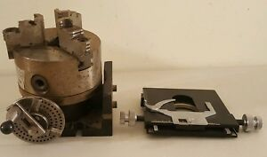 Machinist 3 Jaw Lathe Chuck With Base 5 Bison Co 3205 Made In Poland
